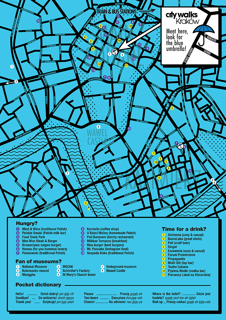 City Walks Kraków - Free Map Guide