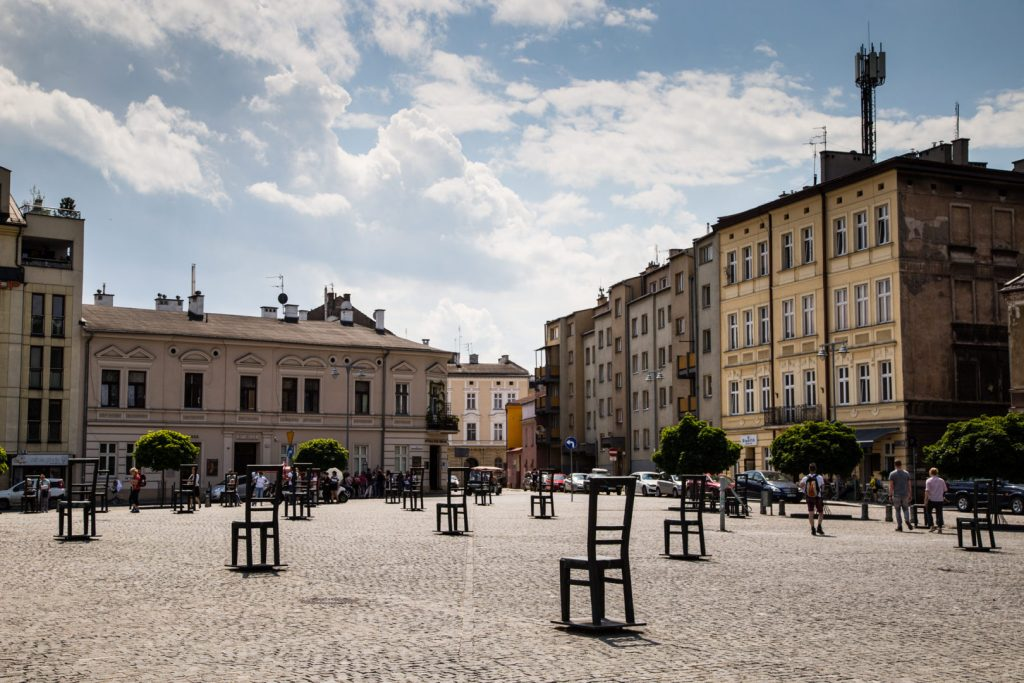Krakow Ghetto memorial Chairs