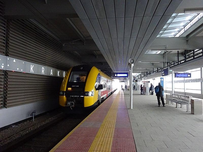Krakow airport train